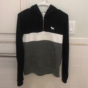Victoria secret quarter zip pull over/hoodie